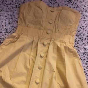 Forever 21 Sweetheart Strapeless Yellow Dress